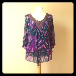 Purple multicolor Top